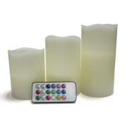LED Flameless Candle 3-pack and RGB